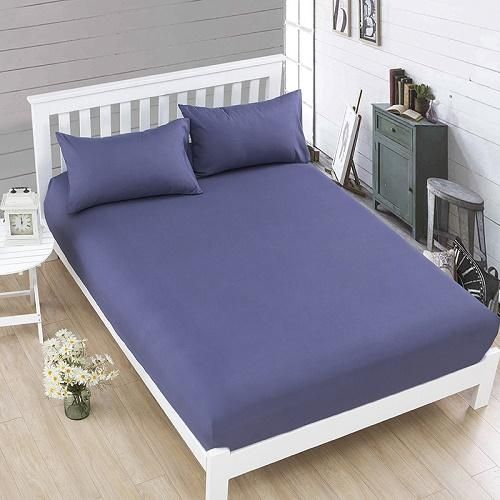 100 Polyester Solid Fitted Mattress Bed Sheet Fitted Bed Sheets Mattress Covers Queen Mattress Size