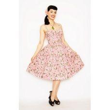BERNIE DEXTER Pink PARIS Cheesecake Floral Blossom USA Made Swing Dress CLOSEOUT!