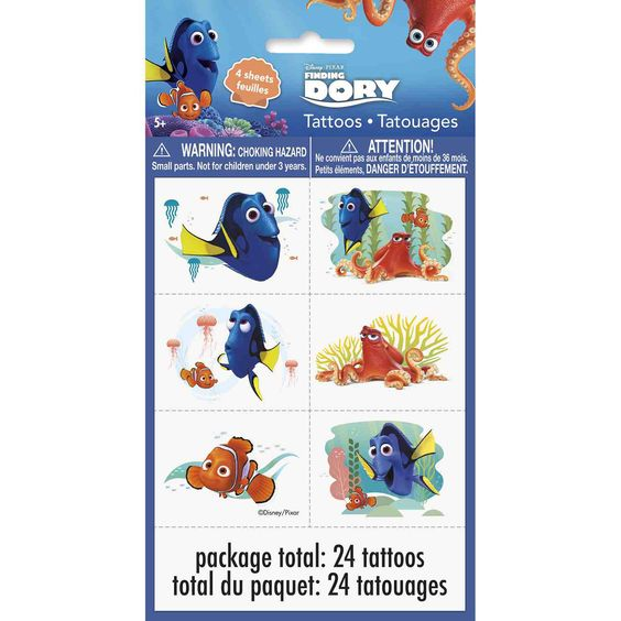 Finding Dory Party Tattoos [24 tattoos total]