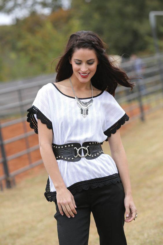 White Fashion Blouse CTW9316001 WHT
