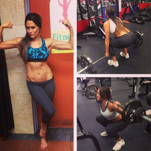 Total Divas Workout Selfies Make Us Want to Drop Everything and Head to the Gym  divas at the gym
