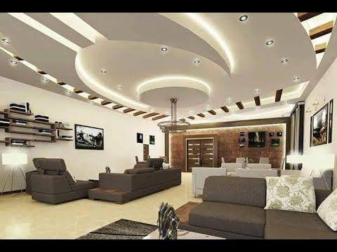 100 صورة من أروع ديكورات الأسقف المعلقة جبس بورد Youtube False Ceiling Design False Ceiling Living Room Ceiling Design