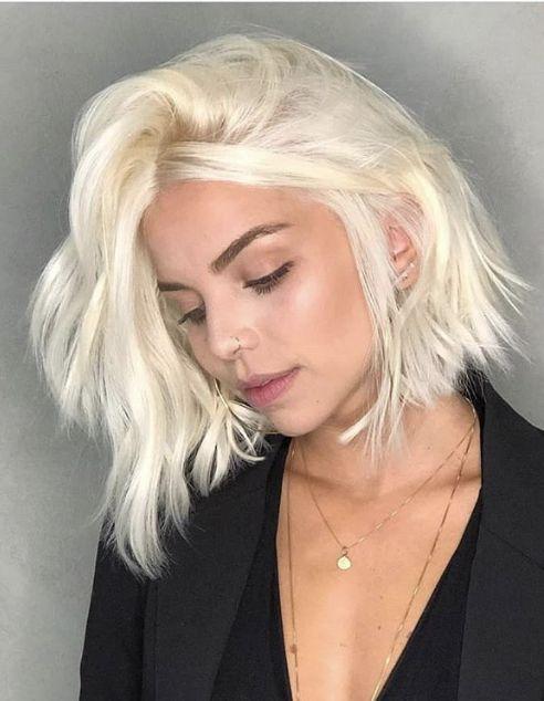 Pin By David Connelly On Bleached Blonde With Dark Eyebrows 02 In 2020 Bleach Blonde Short Hair Styles Dark Blonde