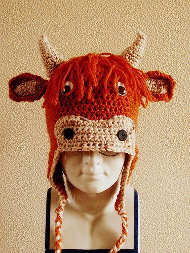 Amigurumi Highland Cow : Highland cow hat! My fav so far... Crocheted Stuff ...