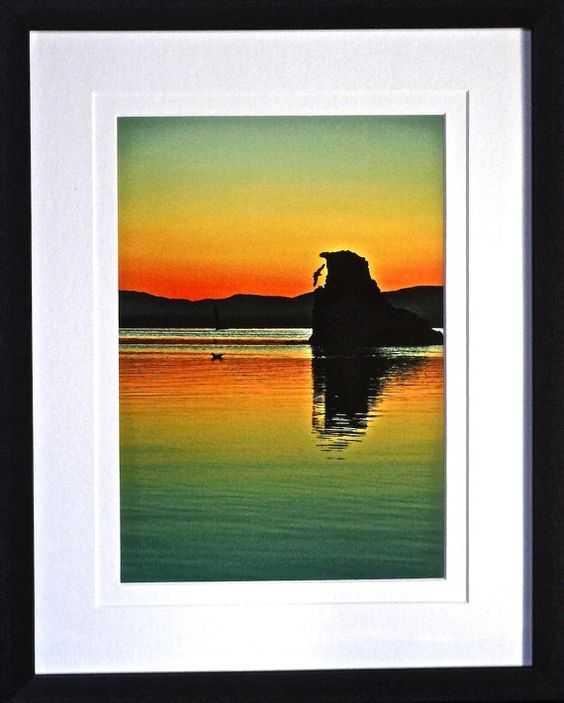 Sunrise Photo Framed Photography Landscape by GatewayAlpha on Etsy, $49.95