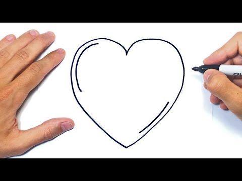 Como Dibujar Un Corazon Paso A Paso Dibujo De Corazon Youtube Dibujos De Corazones Corazones Como Dibujar