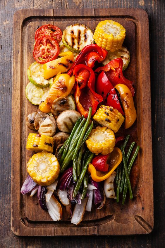 Grilled vegetables - Add slices of Italian cheeses and meats for a heartier appetizer platter...