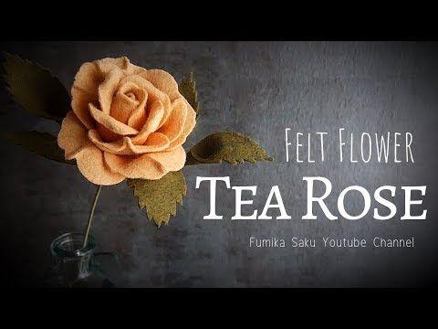 Fiori Youtube.How To Make Felt Flower Tea Rose Youtube Fiori Di Feltro