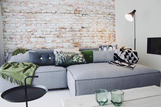 FEST Amsterdam Couch `Dunbar', Sydney91 hellgrau , 2-Sitzer/Longchair links oder rechts - lefliving.de