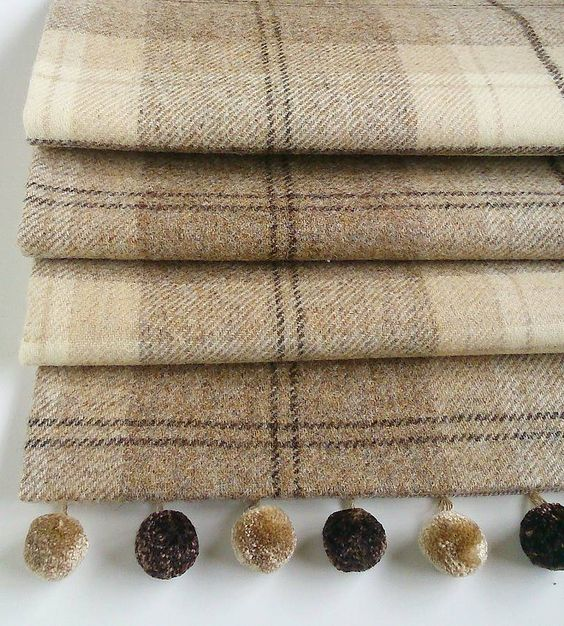 natural tweed roman blind by the nursery blind company | notonthehighstreet.com