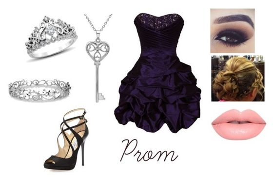 """Prom 6"" by sadiemay42 ❤ liked on Polyvore featuring Jimmy Choo, Lime Crime, Effy Jewelry and Amanda Rose Collection"