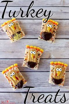 Turkey Treats A Great Thanksgiving Rice Krispie Snack #thanksgivingrecipes #thanksgiving #thanksgivingcrafts #thanksgivingcraftsforkids #thanksgivingdessert #easythanksgivingideas #thanksgivingideas