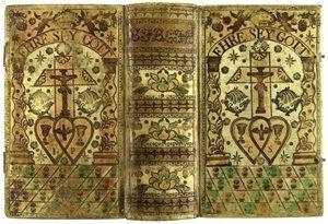 """A German """"Peasant"""" Binding.  Biblia Sacra, das ist, Die gantze Heilige Schrifft... verteutschet von D. Martin Luther. Berlin: Johann Friedrich Lorentz, 1748. Bridwell Library, SMU"""