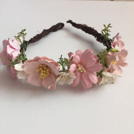 Pink Flower Crown...Flower Girl by ShaneAndShelbyShop on Etsy