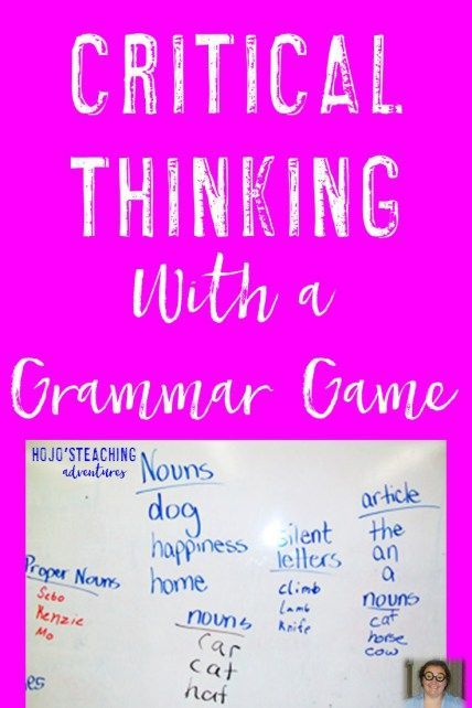 fun critical thinking games Teaching critical thinking is crucial for student success in core subject areas, and it can begin as young as preschool through the introduction of worksheets.