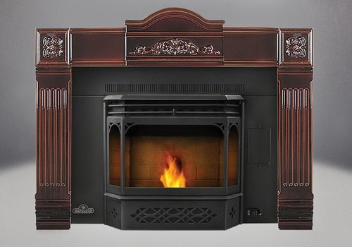Napoleon Eco Pellet Insert Npi45 Pellet Insert Fireplace Inserts Cast Iron Fireplace