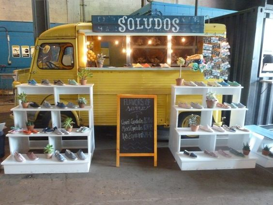 A food truck can also be a pop,up shop on wheels as seen here