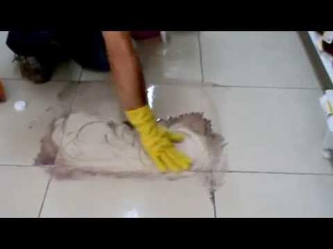 Limpiar eficazmente las juntas de los azulejos del suelo y paredes. - YouTube