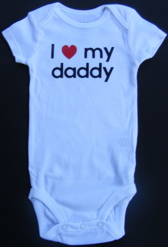 I Heart My Daddy Short Sleeve Onesie by DumaisDesigns on Etsy, $11.25