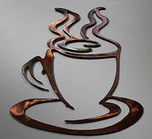 Cup Small Version Copper Bronze Plated Metal Wall Art Decor  eBay .