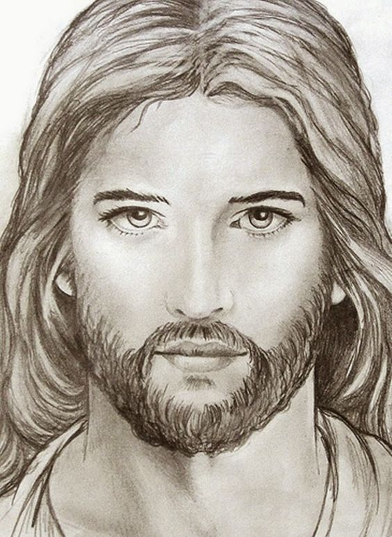 Jim M. Berberich ~ Stained Glass Painter: Jesus sketch ...