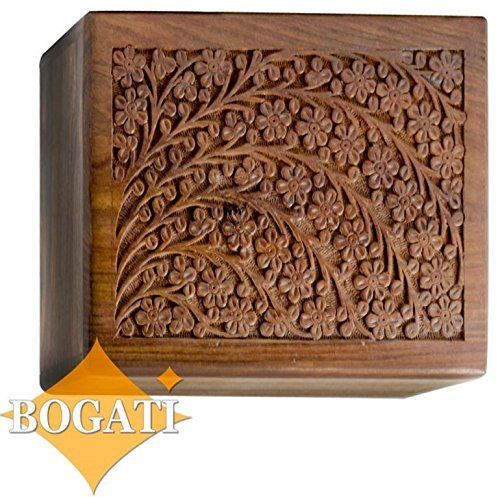 XX-Large Hand-Carved Rosewood Urn Box