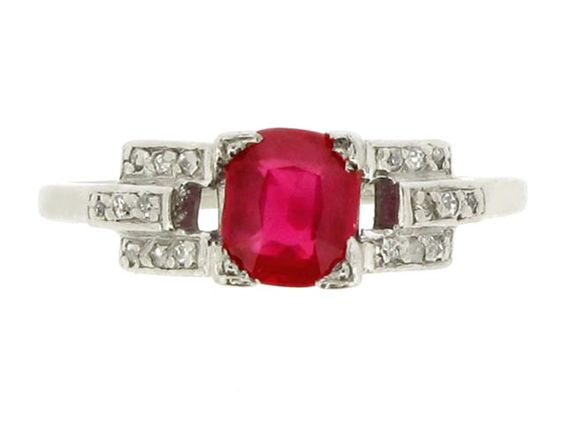 Love the setting and the ruby with diamonds and white gold