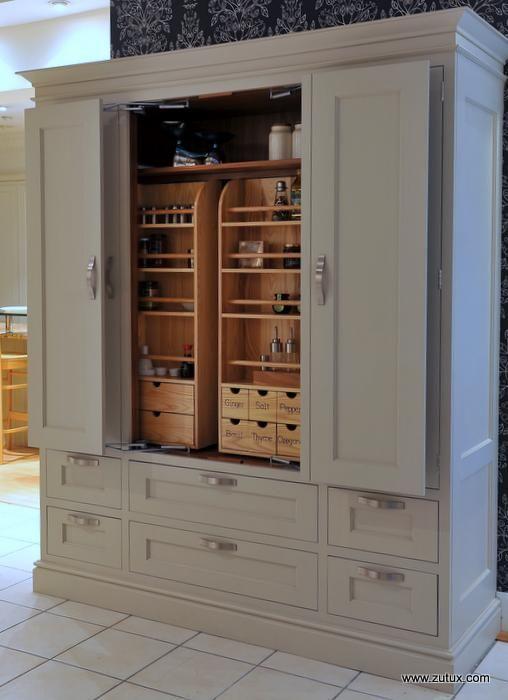 Love that it looks like furniture! Very Large Heritage Custom Larder Cupboard with In Frame Doors