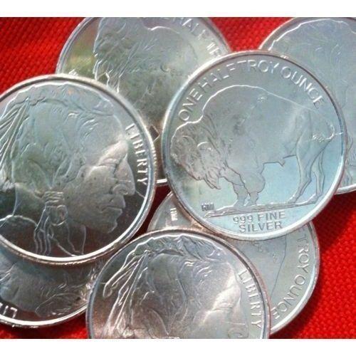 1 2 Silver Bullion Buffalo Indian One Half Troy Ounce 999 9 Looks Very New In 2020 Silver Bullion Bullion Silver Bullion Coins