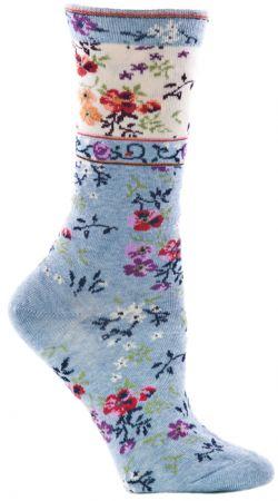 Womens Mona Linen Sock - Sky