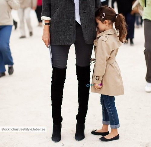 never too young to show great style sense.