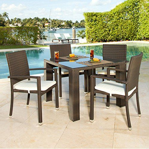 Source Outdoor Zen St Tropez Allweather Wicker Patio Dining Set Seats 4 You Can Find More Details By Vi Patio Dining Set Patio Furniture Sets Patio Dining