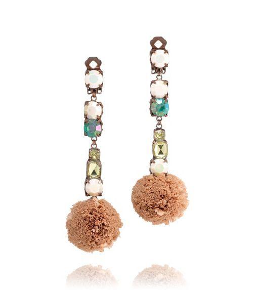 Pom-pom Raffia Drop Earring | Womens Earrings & Rings | ToryBurch.com