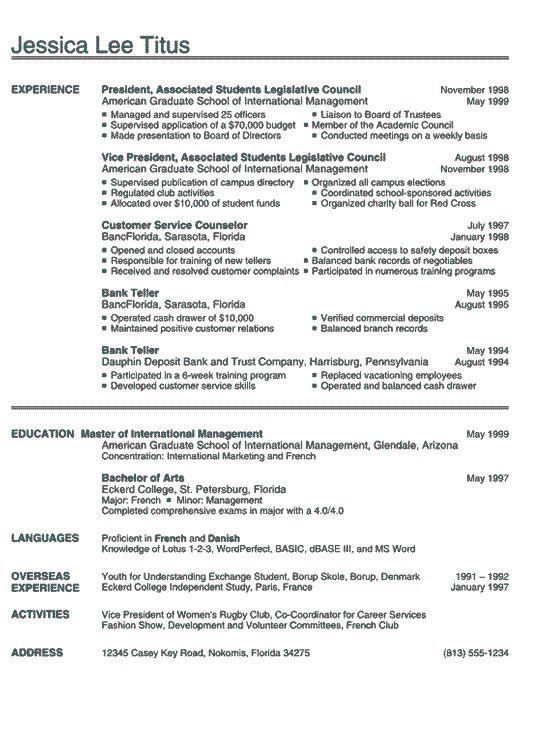 Functional Resume Sample -   resumesdesign/functional