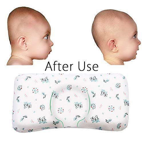 MOKEYDOU Baby Head Shaping Pillow, Memory Foam Infant Sleeping