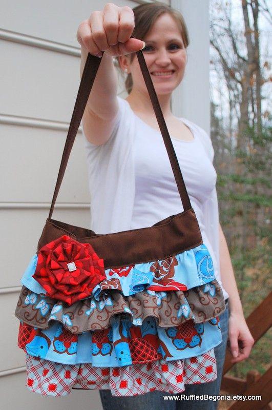 pdf pattern for cute ruffle purse