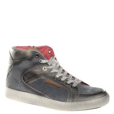 Sneakers antracite con stringhe per uomo CafèNoiR Asequible Para La Venta Caliente r4vrx