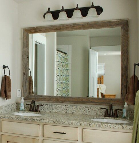 Pin By Gilberto Ahlberg On Farmhouse Rustic Bathroom Vanities Bathroom Vanity Mirror Rustic Mirrors
