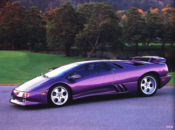 Cool Lamborghini Diablo purple car Really awesome  Purple Cars