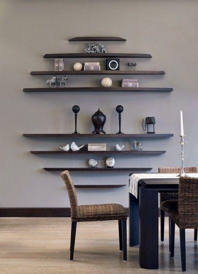 How To Make A Design Statement With Floating Shelves Modern Wall Design And Decorating Moder Decoracao Com Nichos Diy Casa E Decoracao Interiores De Casas