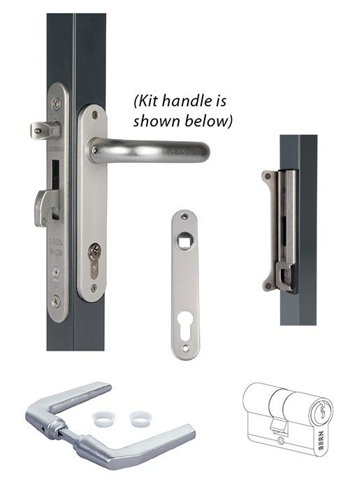 Fortylock Insert Lock Kit For 2 Square Tubing Shop For Ornamental Latches Gate Hardware Kit Latches