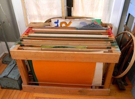 Vintage Modern Artist Wood Divided Storage Bin  http://www.etsy.com/listing/83068383/vintage-modern-artist-wood-divided