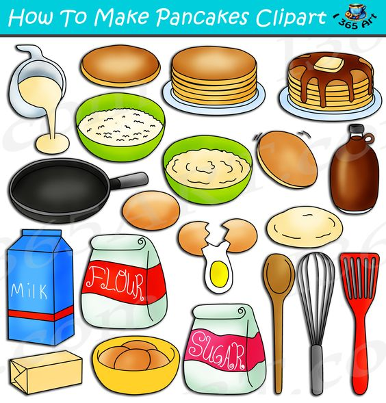 How To Make Pancakes Clipart Set Download Clipart 4 School How To Make Pancakes Pancakes Clipart Clip Art