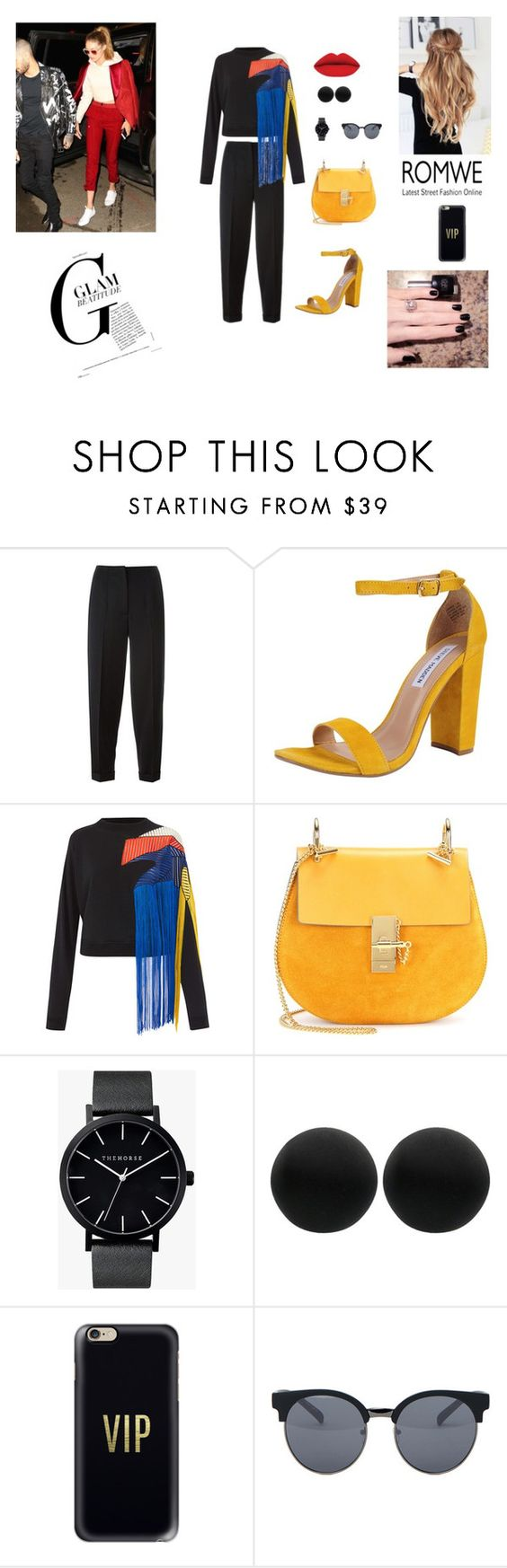 """""""colories"""" by neymarzeterafaella on Polyvore featuring mode, Alexander McQueen, Steve Madden, Christopher Kane, Chloé, The Horse, Thomas Sabo, Casetify et Quay"""
