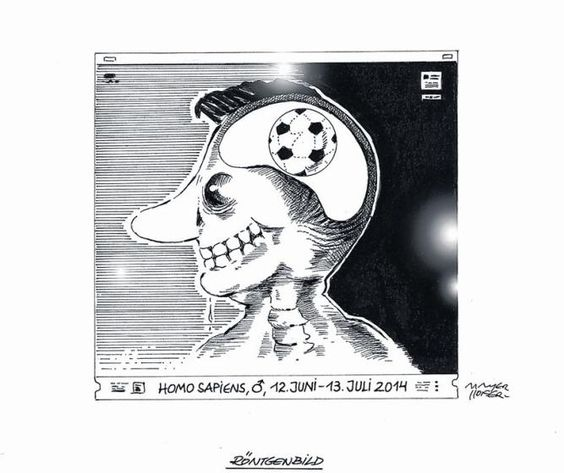"OÖN-Karikatur vom 12. Juni 2014: ""Röntgenbild"" (Bild: Mayerhofer)"