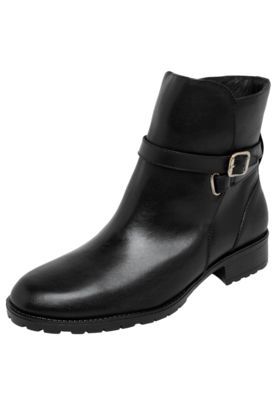 A Bota My Shoes preta é confeccionada em couro no salto geométrico de 4cm no modelo 38. Tem fivela metalizada na leteral e cano baixo com 15cm de altura e 32cm de circunferência. Conta também, com interior têxtil, palmilha macia e solado em borracha.