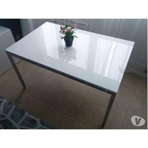 Torsby Table Chrome Brillant Blanc 135x85 Cm Ikea Coffee Table