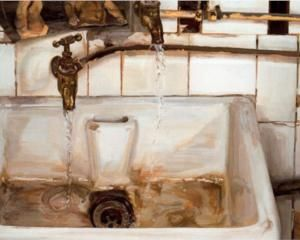 Two Japanese Wrestlers by a Sink - Lucian Freud