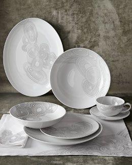 H82R3 Jonathan Adler 5-Piece Grey Malachite Dinnerware Place Setting