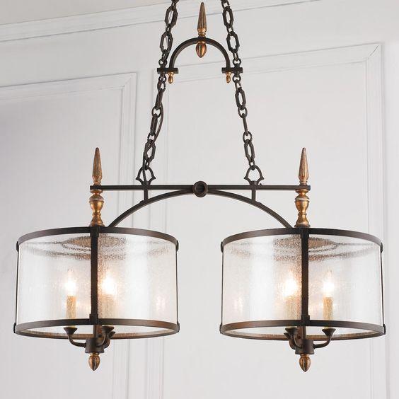 Old World Dining Room Chandeliers: Crystal Basket Semi Flush Ceiling Light